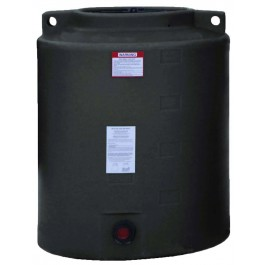 210 Gallon Black Vertical Water Storage Tank