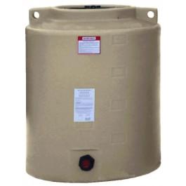 210 Gallon Beige Vertical Water Storage Tank