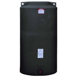 340 Gallon Black Vertical Water Storage Tank
