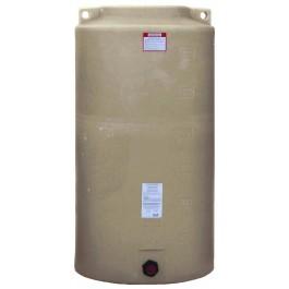 340 Gallon Beige Vertical Water Storage Tank
