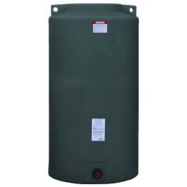 340 Gallon Dark Green Vertical Water Storage Tank