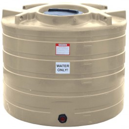 550 Gallon Beige Vertical Water Storage Tank