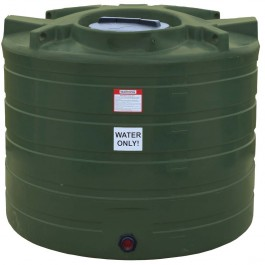 550 Gallon Mist Green Vertical Water Storage Tank