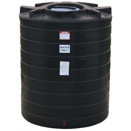 870 Gallon Black Vertical Water Storage Tank