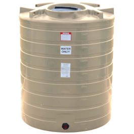870 Gallon Beige Vertical Water Storage Tank