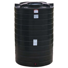 1100 Gallon Black Vertical Water Storage Tank