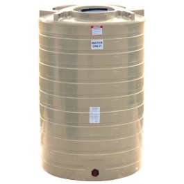 1100 Gallon Beige Vertical Water Storage Tank