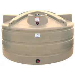 1200 Gallon Beige Vertical Water Storage Tank