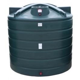 3100 Gallon Dark Green Vertical Water Storage Tank