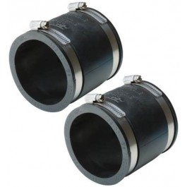 "3"" EPDM Flex Coupler Set for Above Ground Septic Tanks"