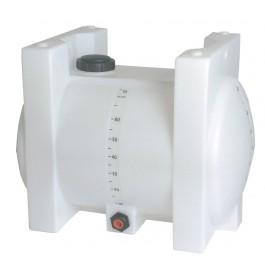 70 Gallon White Horizontal Leg Tank