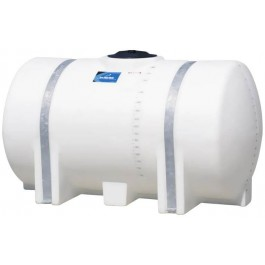 325 Gallon White Horizontal Leg Tank