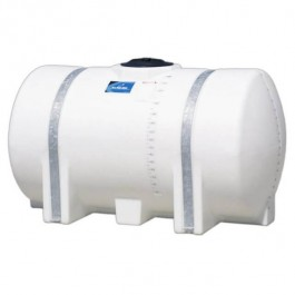 335 Gallon White Horizontal Leg Tank