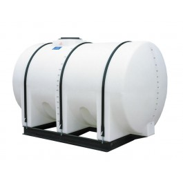 1300 Gallon White Horizontal Leg Tank