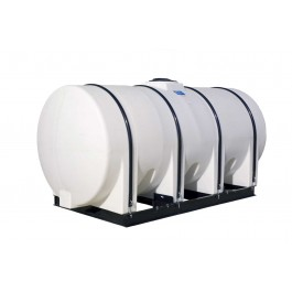 1750 Gallon White Horizontal Leg Tank