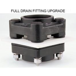 "Installed - 2"" Full Drain Upgrade Fitting"