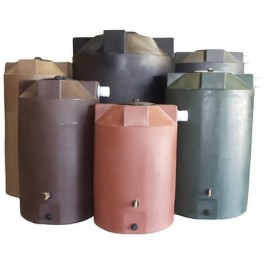 1150 Gallon Dark Grey Rainwater Collection Tank