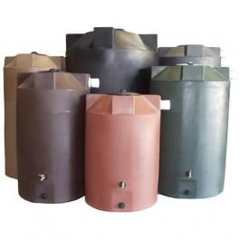 1500 Gallon Dark Brown Rainwater Collection Tank