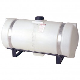 150 Gallon White Applicator Tank w/ Deep Sump