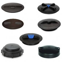 """14"""" Vented Hinged Threaded Tank Lid (Ring Included)"""