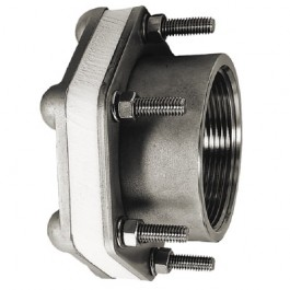 """3"""" 316 SS Female NPT Bolted Fitting w/ VITON Gasket"""