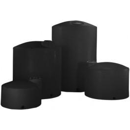 1700 Gallon Black Vertical Storage Tank