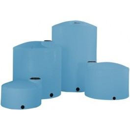 3000 Gallon Light Blue Heavy Duty Vertical Storage Tank