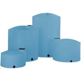 3000 Gallon Light Blue Heavy Duty Vertical Storage Tank
