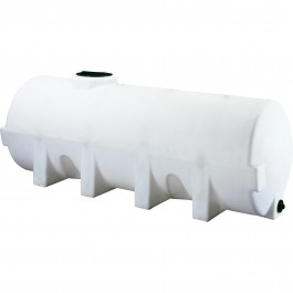 1025 Gallon White Horizontal Leg Tank