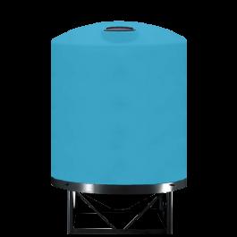 3000 Gallon Light Blue Heavy Duty Cone Bottom Tank