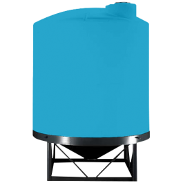 5500 Gallon Light Blue Heavy Duty Cone Bottom Tank