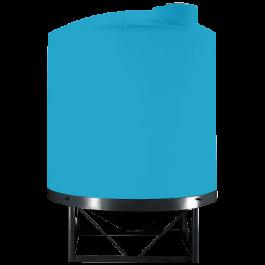 10000 Gallon Light Blue Heavy Duty Cone Bottom Tank