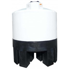 1050 Gallon Cone Bottom Tank with Poly Stand