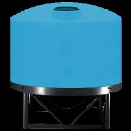 7500 Gallon Light Blue Heavy Duty Cone Bottom Tank