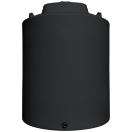 10000 Gallon Black Vertical Storage Tank