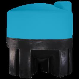 1600 Gallon Light Blue Heavy Duty Cone Bottom Tank
