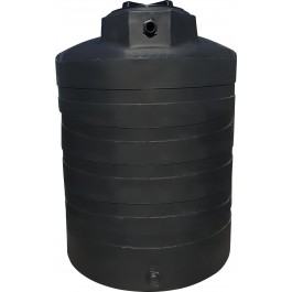 1350 Gallon Black Vertical Water Storage Tank