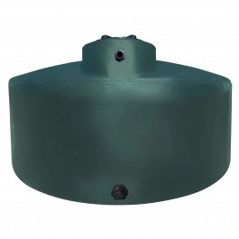1550 Gallon Dark Green Vertical Water Storage Tank