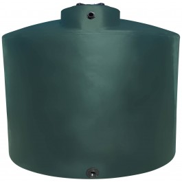 3000 Gallon Dark Green Vertical Water Storage Tank