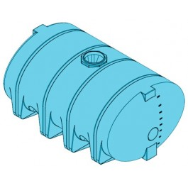 2610 Gallon Light Blue Heavy Duty Drainable Leg Tank