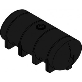 4035 Gallon Black Heavy Duty Elliptical Leg Tank