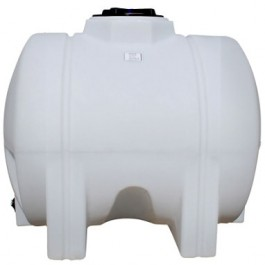 425 Gallon White Horizontal Leg Tank