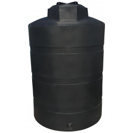 1000 Gallon Black Heavy Duty Vertical Storage Tank