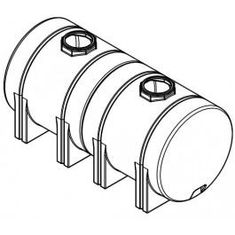 1800 Gallon White Horizontal Leg Tank