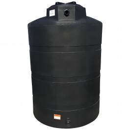 "500 Gallon Black Vertical Water Storage Tank, 48"" Diameter x 73"" Height"