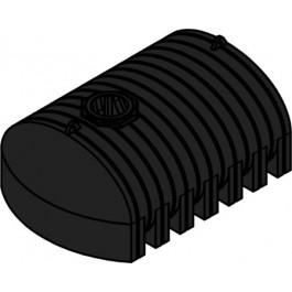 1600 Gallon Black Heavy Duty Elliptical Leg Tank