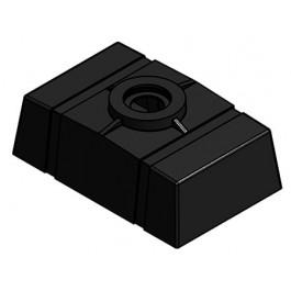 50 Gallon Black Loaf Tank