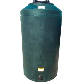 165 Gallon Dark Green Vertical Water Storage Tank