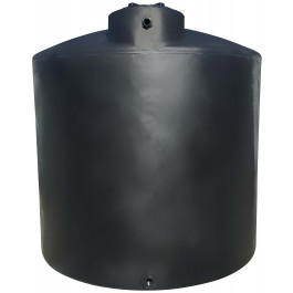 6500 Gallon Black Vertical Water Storage Tank