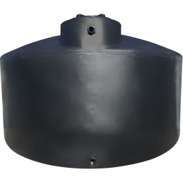 6600 Gallon Black Vertical Water Storage Tank